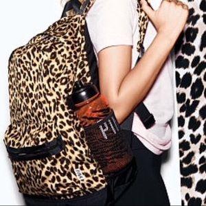 Pink Victoria's Secret Campus Backpack Leopard